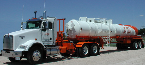 Oil transport truck